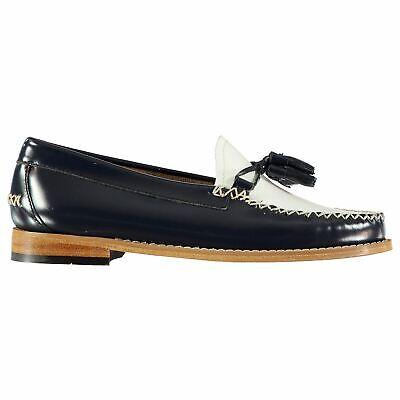Comfort Shoes Bass Weejuns Estelle Hochglanz Slipper Slip On Schuhe Damen Blau/weiß Schuhwerk