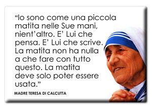 Magnete Frigo Aforismi Frasi Celebri Famose Citazioni Madre Teresa