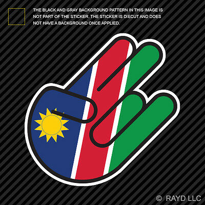2 Nambia Flag Decals Stickers