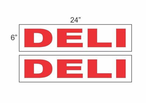 """DELI 6/""""x24/"""" RIDER SIGNS Buy 1 Get 1 FREE 2 Sided Plastic"""