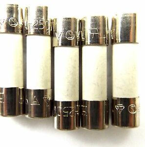 Fuse 1a  20mm LBC Anti surge T1A L 250v  Time Delay x5pcs