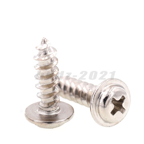 M1.2~M4 Laptop Computer Phone Flange Round Head Self Tapping Screw-Ni Plated