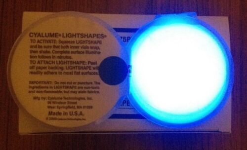 20 x Blue Cyalume Chemlight Emergency Glow Lighting Adhere To Most Surfaces 8hrs