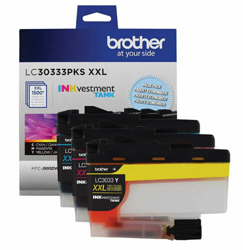 GENUINE Brother LC3033 XXL Ink Cartridge 3 Pack for MFC-J815DW MFC-J995DW