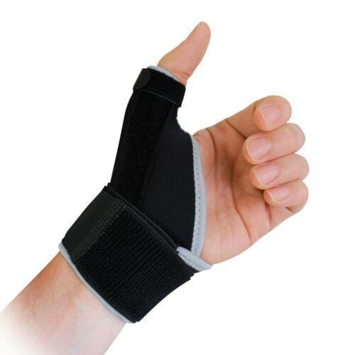 with removable metal splints Protek Neoprene Thumb Brace