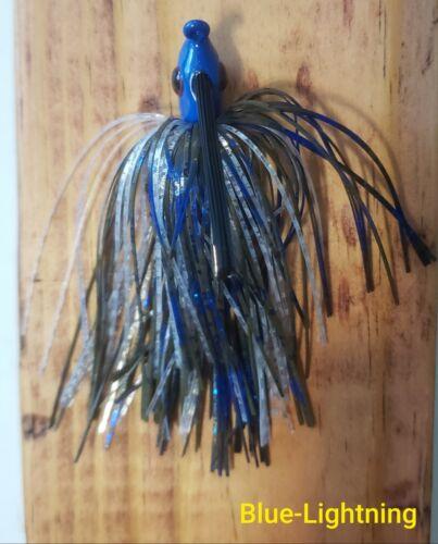 Blue-Lightning Weedless Swim Jig