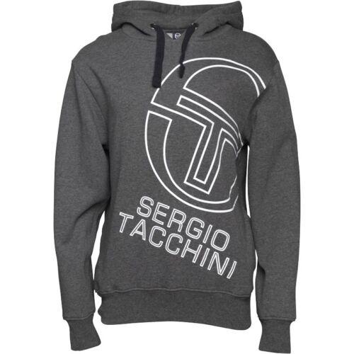 "Sergio Tacchini Mens Logo Hoody Charcoal New+Tags Size small 36-38/"" Bargain Wow!"