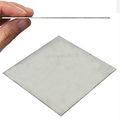 1pc Silver TC4/GR5 1mm Thick Titanium Alloy Metal Plate Ti Sheet 100mmX100mmX1mm