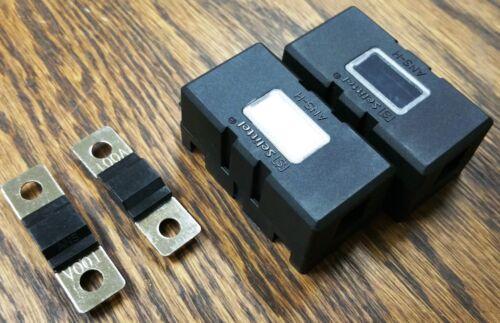 USA Stock! NEW! 2 each 100A Mini ANL Black Fuses /& Fuse Blocks