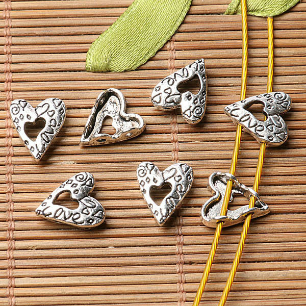 4pcs Tibetan silver plated word trust connector EF2033