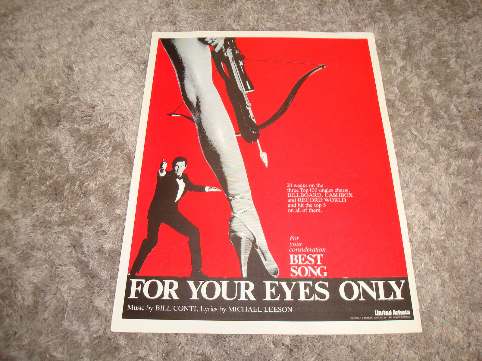 For Your Eyes Only Oscar Ad Roger Moore As James Bond Four