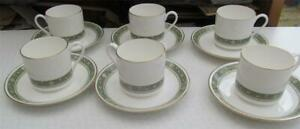 Royal-Doulton-Rondelay-Coffee-Cups-amp-Saucers-Set-of-6-34-99-Post-Free-UK