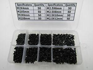 M2-M2-5-Cross-pan-Head-Self-Tapping-Screws-Black-Oxide-Assortment-Kit-400-pcs