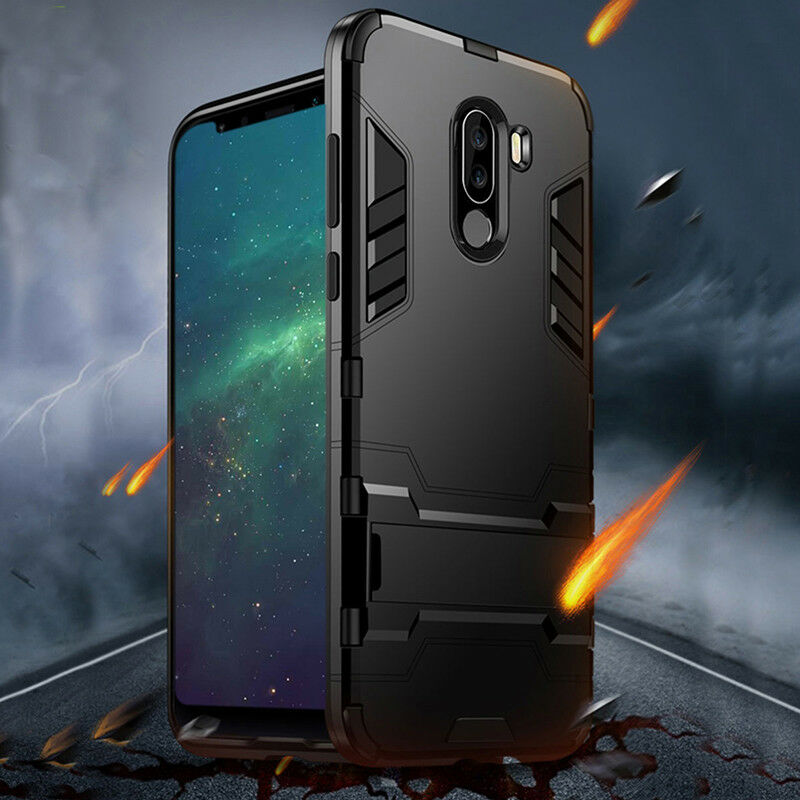 reputable site 39dbd a5f9f Details about Poco F1 Case Shockproof Hybrid Slim Stand Armor Cover For  Xiaomi Mi Pocophone