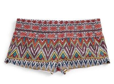 Bello Billabong Sahara Tramonto Ragazze Giovanile 100% Poli Pantaloncini Da Barca 10