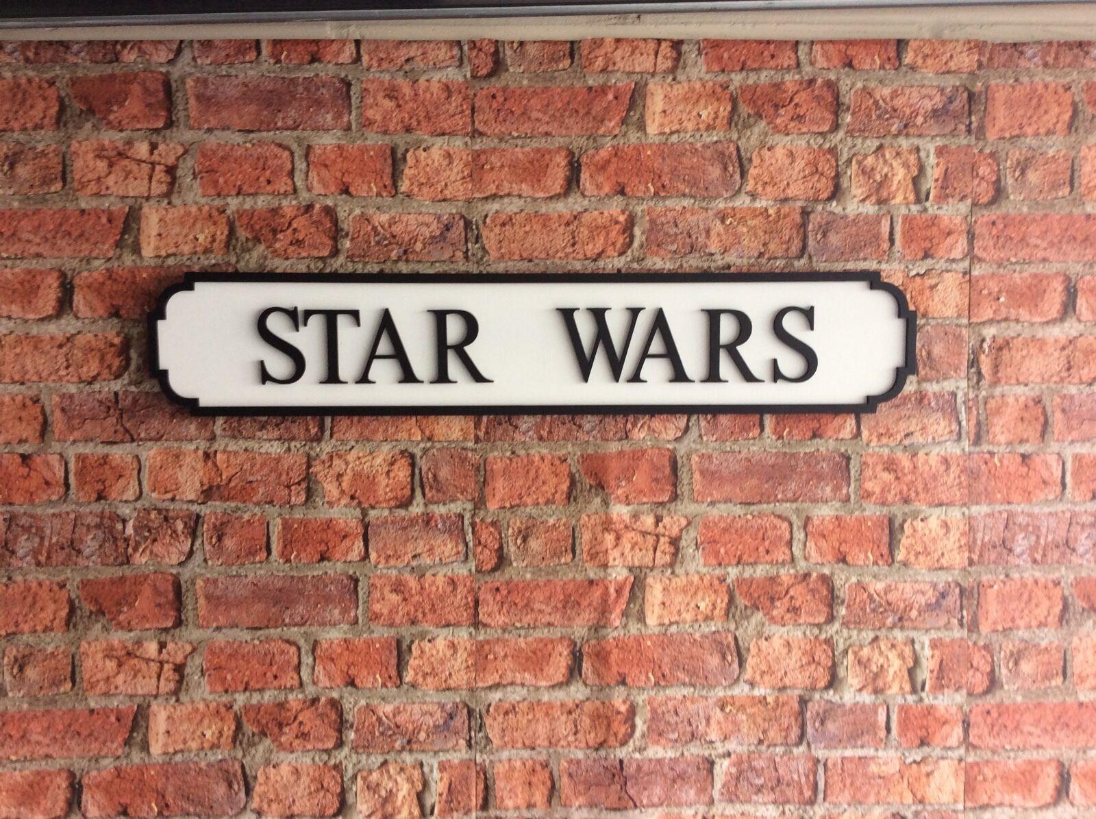 STAR WARS Vintage London Wood Street Road Sign