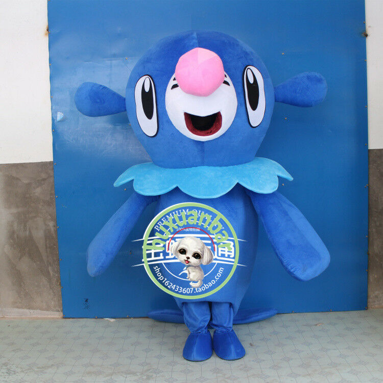 Popplio tecknad Go Mascot Kostym Hallågeen Anime Fancy Dress Vuxna Outfit