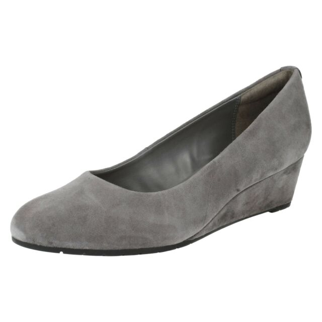 bc779cabb9e7 Clarks Vendra Bloom Womens Smart Shoes Grey 9 for sale online