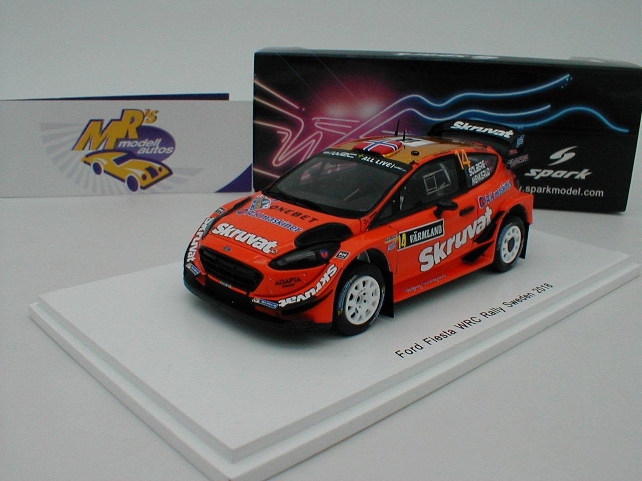 SPARK s5968-Ford Fiesta  WRC Nº 14 Rally Suède 2018  H. Solberg  1 43 NEUF  produit de qualité d'approvisionnement