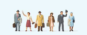 Travellers-set-A-High-quality-OO-figures-6-PREISER-73008-free-post