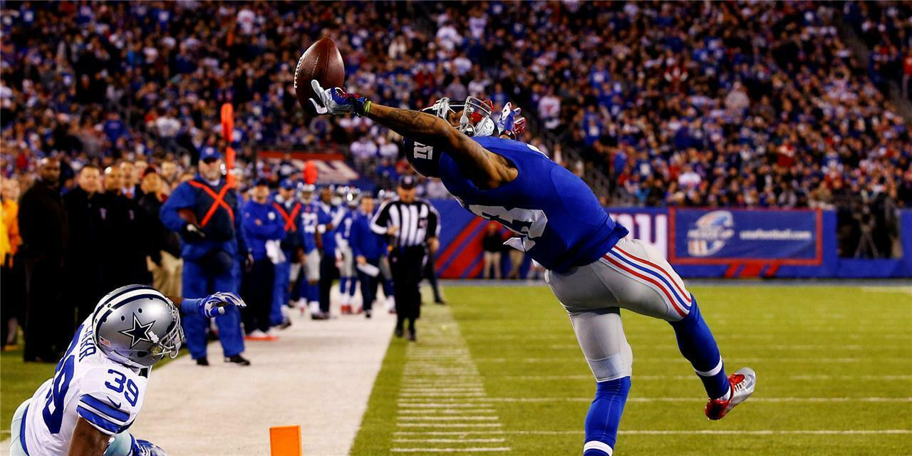 New Odell Beckham Jr One Hand Catch Football Sports OBJ Poster14x21 24x36 X-2105