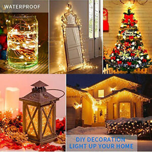 Image Is Loading Christmas Decor String Lights Electric Plug In Multi