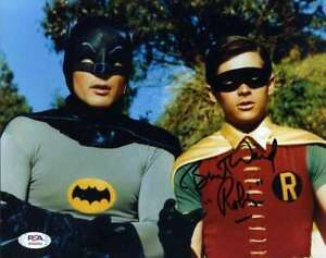 Burt-Ward-PSA-DNA-Coa-Signed-8x10-Batman-Abd-Robin-Photo-Autograph