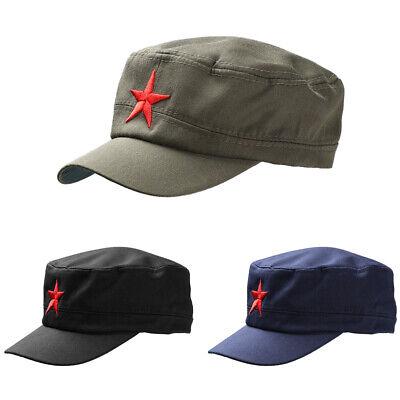 BIN Soviet Army Red Star Hat Cap Fancy Dress Cadet Military Soldier Cosplay Prof