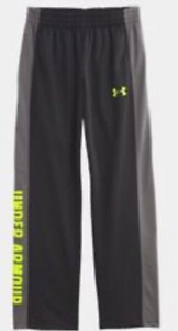 Details about NWT Under Armour UA Boys Brawler Pants 2.0 Black Gray Fuel Green 2T 27B55613