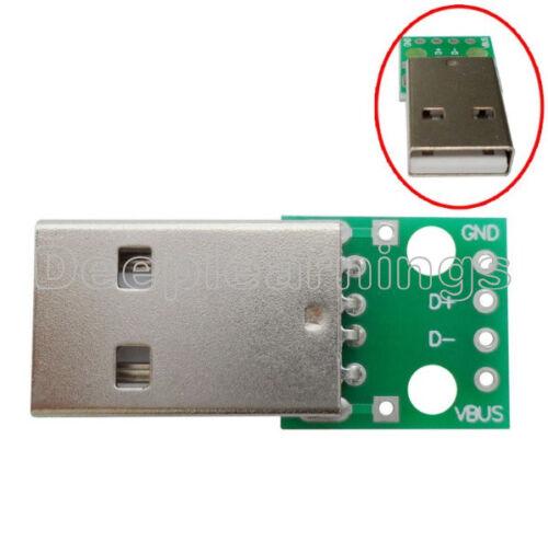 5pcs USB to DIP Adapter Converter 4 pin for 2.54mm PCB Board Power Supply DIY