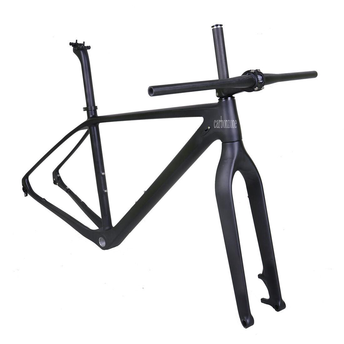 19  29er voiturebon Mountain Bike Frame Fork Handlebar Stem Matt 142mm Thru Axle BSA