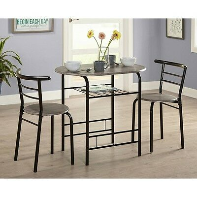 Bistro Table Set 3 Piece Dining For 2 Furniture Chair Kitchen Small Space  Indoor 24319509139 | eBay