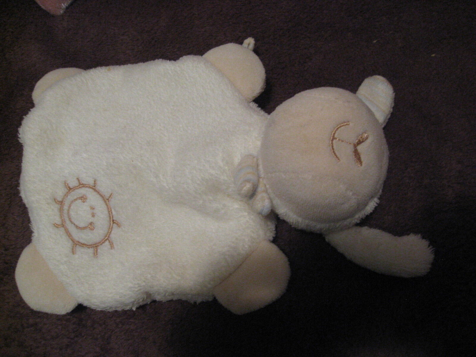 RARE    C & A  BABY CLUB SHEEP COMFORTER WITH DUMMY HOLDER ON TAIL