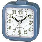 CASIO COMPACT SMALL TRAVEL QUARTZ LUMINOUS ALARM CLOCK BLUE TQ-141-2 NEW
