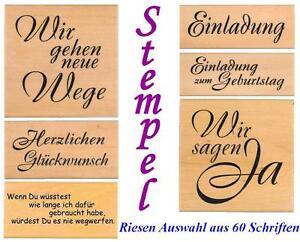 Stempel-Textstempel-Schriftstempel-Embossing-Holzstempel-Einladung-Danke-usw