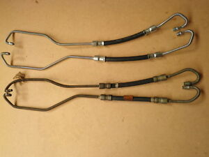 Holden-HD-HR-Correct-Reproduction-Power-Steering-Hoses-Valve-to-Ram-New-Pair