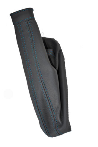 Blue stitch fits Fiat Multipla 99-04 frein à main cuir gris Gaiter