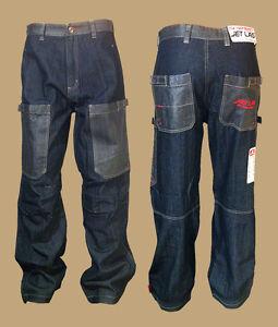 Jet-Lag-Jeans-Hose-W29-L32-dark-blue-blau-work-weit-013-Baumwolle-Baggystyle-NEU