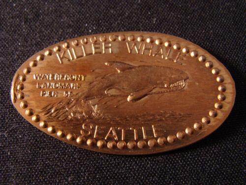 Seattle WA elongated penny V164 Killer Whale