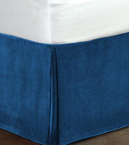 "Fascination Classy100/% Cotton Velvet Bedskirt//Valance 15/""Drop-QUEEN Size"