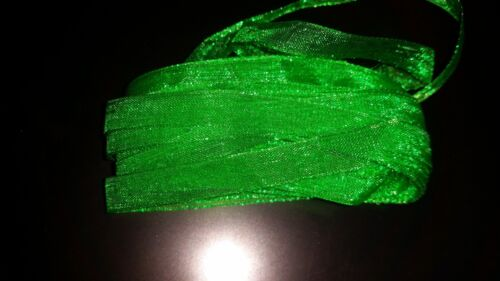 4 metros cinta organza de 7mm de grosor VERDE cinta transparente pulseras