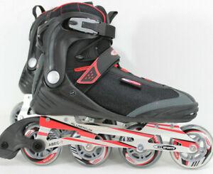 Gelegenheit-HySports-RED-Black-Speed-Inline-Skates-Herren-ALU-Groesse-45-9256