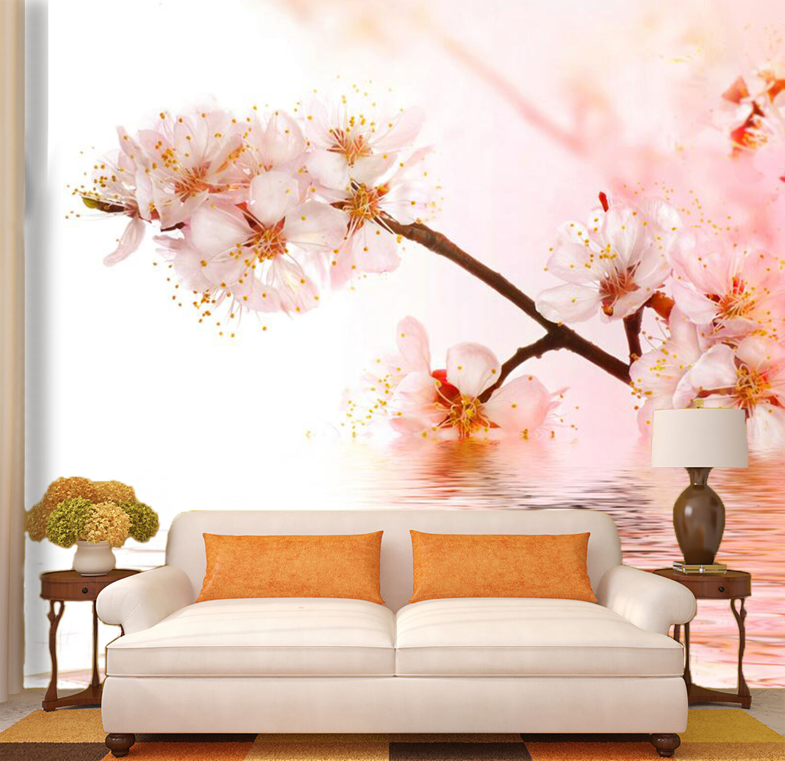 3D Fresh Sweet Flowers 2 Wall Paper Print Decal Wall Deco Indoor wall Mural