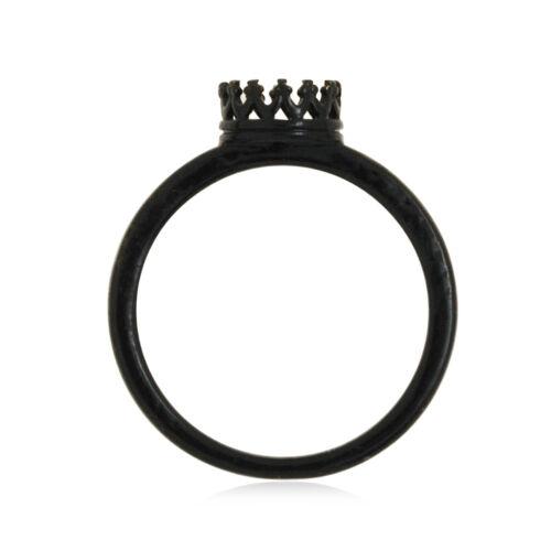 Anillo Redondo 6mm bisel de anillo de Taza Taza corona material de latón bases en blanco 5 un.