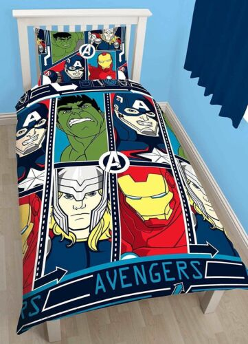 "Disney /""Marvel Avengers TECH /"" Single  Rotary Duvet Cover and Pillow Case Set"