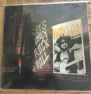 WAYLON JENNINGS * ITS ONLY ROCK AND ROLL LP * 1983 LP Record AHL1-4673 VG+