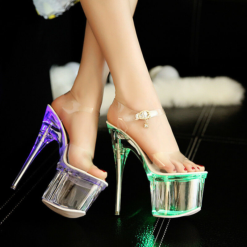 Damen Schuhe Nachtclub Pumps Stiletto High Heels Nachtclub Schuhe Party Durchsichtig Sandalen top 165cd5