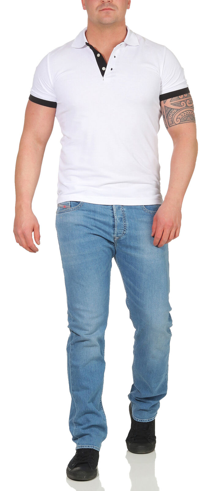 JEANS Diesel Uomo Buster Pantaloni Regular Slim Slim Slim Tapered Pantaloni Jeans Look Usato PANT 6e2e9b