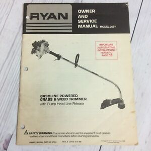 Ryan-Owners-And-Service-Manual-Model-265-1-Gas-Powered-Grass-amp-Weed-Trimmer
