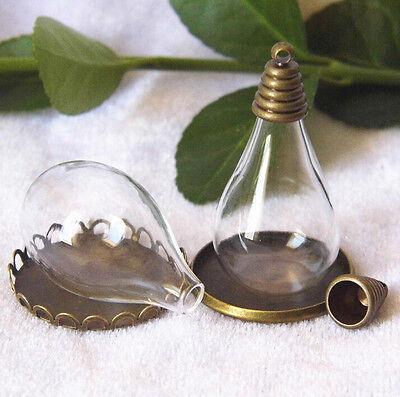 Mini Clear Glass Hemisphere Cover Dome Cabochon Jewelry Pendant Craft 2pcs